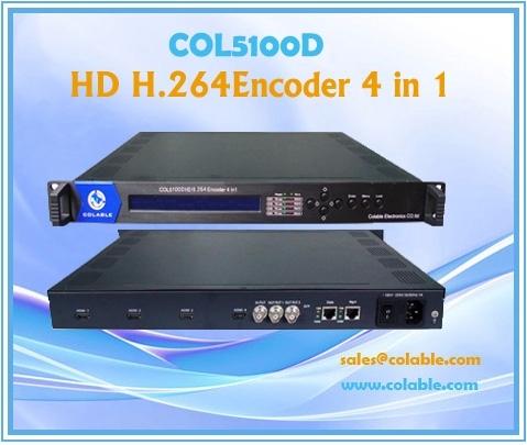 Col5100d Hd H 264 Encoder 4 In 1