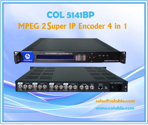 Col5141bp Mpeg2 4 Encoder With Ip In 1