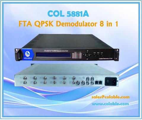 Col5881a Fta Qpsk Demodulator 8 In 1 Out