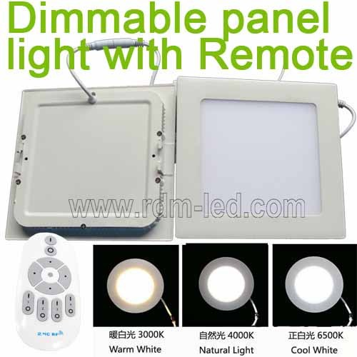 Color Changing And Dimmable Square Led Panel Light By Remote