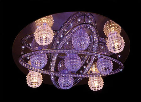 Color Changing Led Crystal Ceiling Lamp C5008 500