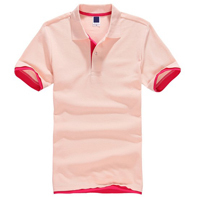 Color Pink Plain Wholesale Famous Brand Man Polo T Shirt