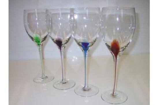 Colored Glass Wine Cup