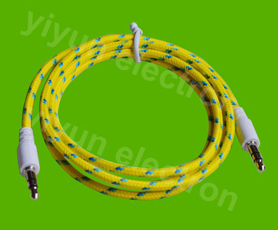 Colorful Fabric Auxiliary Cable