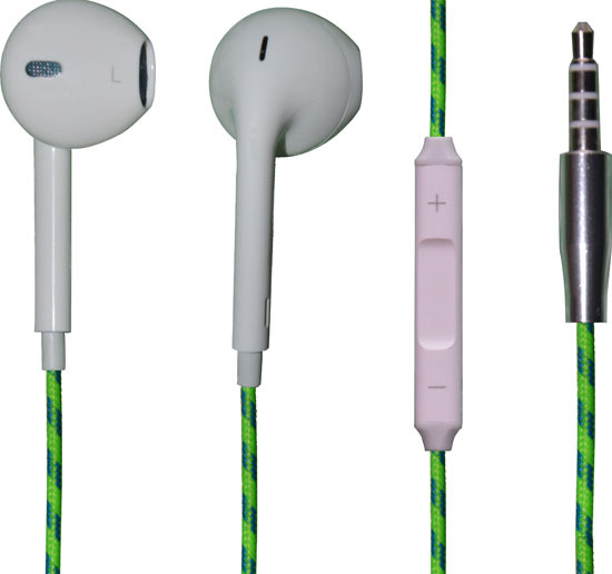 Colorful Fabric Earphones For Iphone Yap 031
