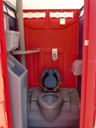 Colorful Portable Restrooms