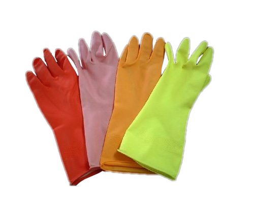 Colorful Rubber Houshold Gloves