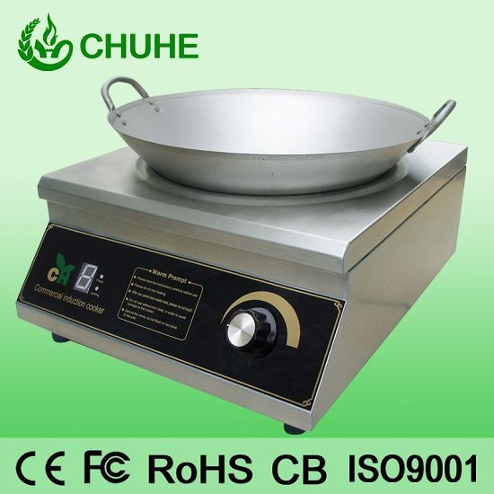 Commercial Induction Wok 5000w Ce Apparoval
