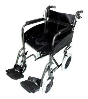 Compact Transport Aluminium Wheelchair Grey