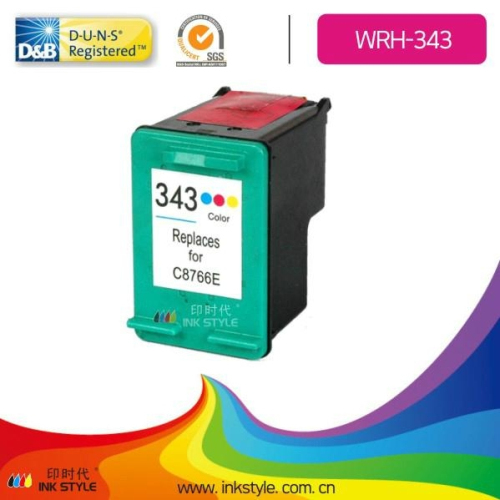 Compatible C8766e 343 Tri Color Ink Cartridge For Hp