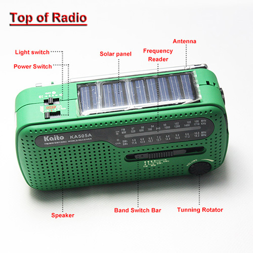 Competitive Product Fm Am Sw Emergency Rechargeable Siren Crank Radio Solar