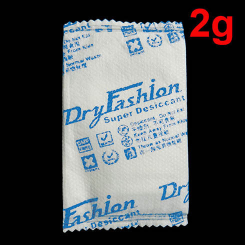 Container Desiccant Sachets Dry Fashion 2g