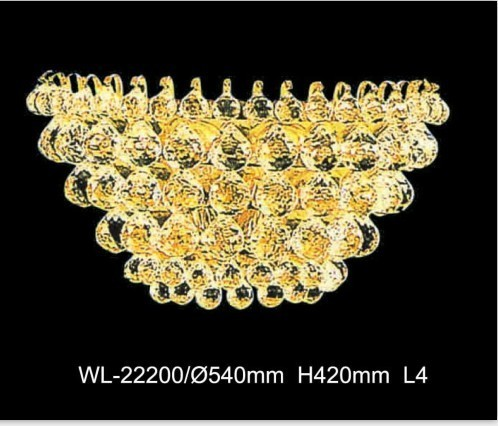 Contemporary Gold Finished Crystal Lamp
