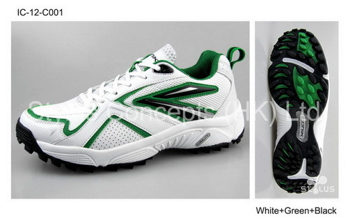 Cool Cricket Shoes White Green Black
