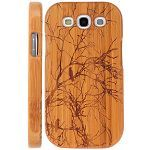 Cool Design Wooden Bamboo Case For Samgsung Galaxy Siii I9300 Bird And Tree