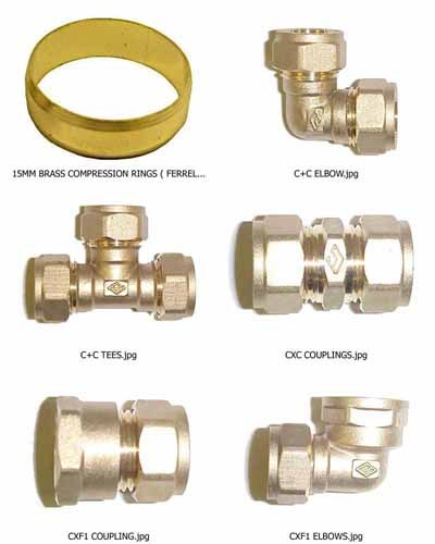 Copper Fitting Brass Compression Ring