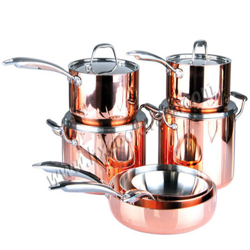Copper Triply Cookware Set Hxc Set6