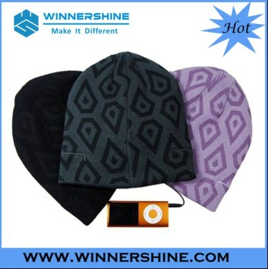 Cotton Printing Pattern Beanie Built In Speaker