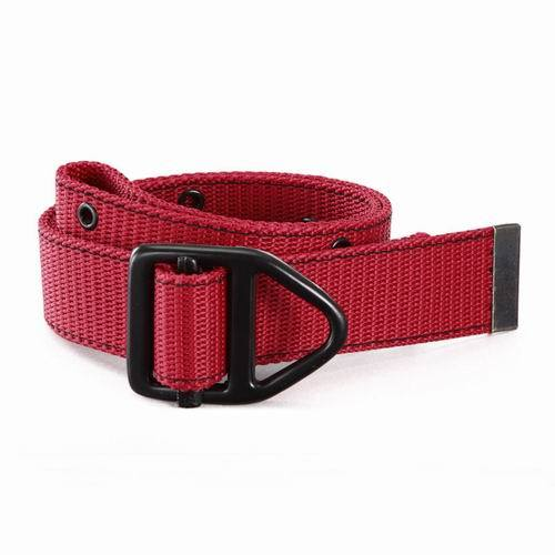 Cotton Webbing Belt Red Canvas