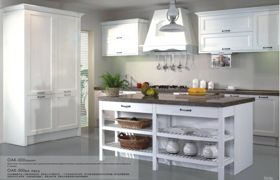 Country Style Solid Wood Kitchen Cabinet