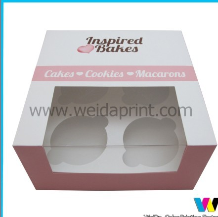 Creative Pink Paper Cupcake Boxes With Handle