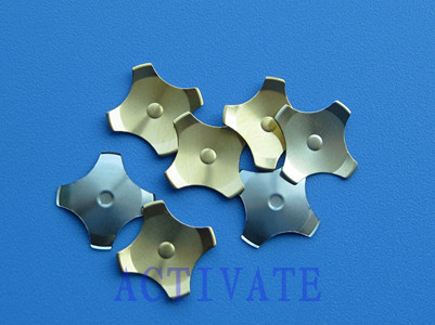 Cross Metal Dome Four Leg Gold Plating With Dimple