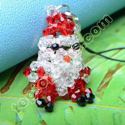 Crystal Beaded Santa Claus Charm