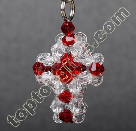 Crystal Mini Beaded Cross Charms