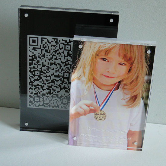 Custom Acrylic Desk Block 20mm Magnetic 8x6 Frame 6x4 Photo