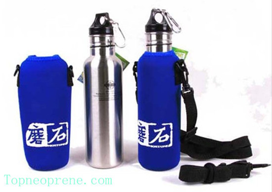 Custom Neoprene Sport Water Bottle Sleeve Cooler Sling Bag