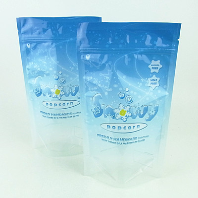 Custom Printing Stand Up Food Bags For Popcorn