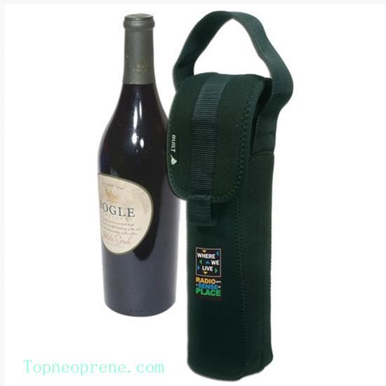 Custom Single Bottle Wine Tote Sleeve Case Bag Neoprene