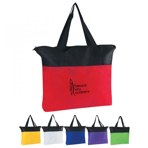 Customizable Non Woven Zippered Tote Bag