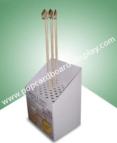 Customized Pop Cardboard Dump Bin Display For Garden Brush Storage