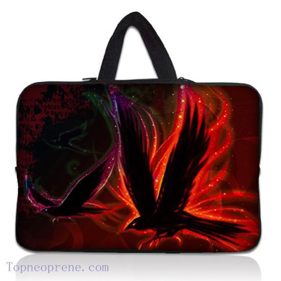 Customized Zipper Neoprene Laptop Case Sleeve Bag With Handle