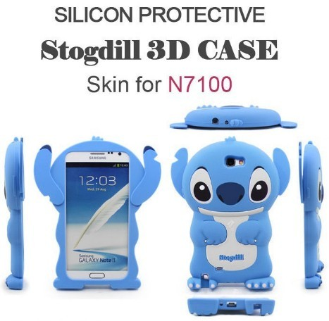 Cute Stitch Protective Case For Samsung Note 7100 Silicone Galaxy Note2