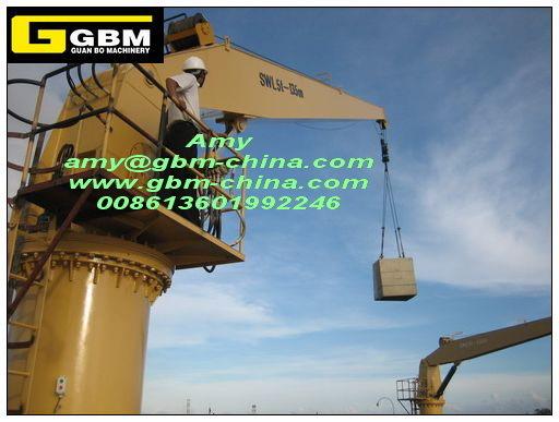 Cylinder Luffing Deck Crane