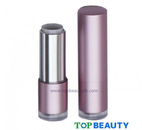 Cylinder Plastic Lipstick Tube Container Packaging With Bullet Shape Cover
