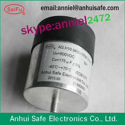 Dc Capacitor 175uf 600vdc Cylinder For Solar Wind Power Factory Photovoltai