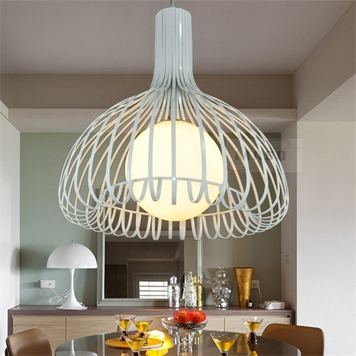Decorative Iron Pendant Lamp 60w Indoor Lighting Made In Zhongshan Factory