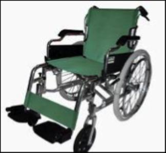 Deluxe Aluminium Wheelchair Green