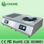 Desktop Induction Cooker With Flat And Concave Burner