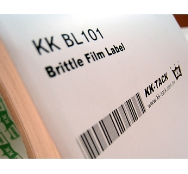 Destructible Type Brittle Film Label