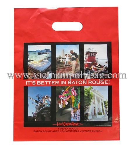 Die Cut Plastic Shopping Bag Made In Vietnam