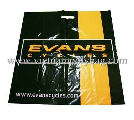 Die Cut Poly Shopping Carrier Bag Made In Vietnam