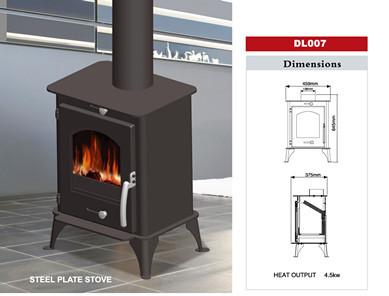 Dl007 Wood Burning Stove Steel Sheet