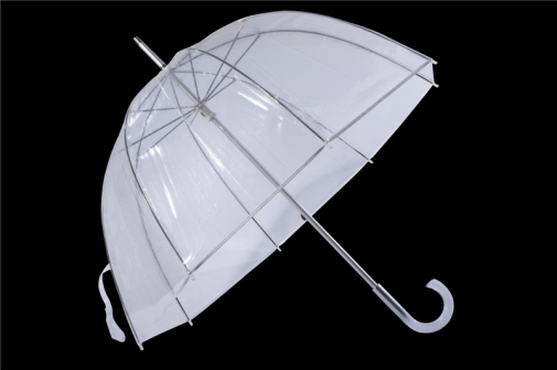 Dome Shape Windproof Transprent Pvc Recycle Umbrella