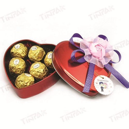 Dongguan Gift Heart Tin Can For Valentine
