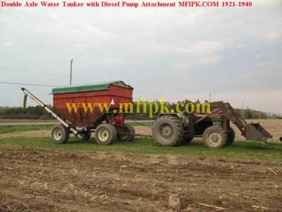 Double Axle Water Tanker With Diesel Pump Attachment