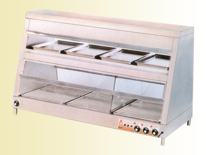 Double Four Compartment Insulation Cabinet Electro Thermal